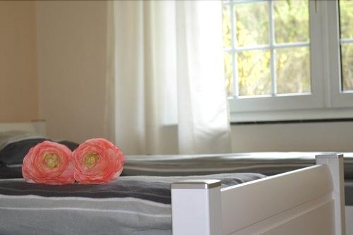 Schlafzimmerbild mit zwei Betten